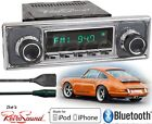 RetroSound Model TWO-C Radio/Bluetooth/iPod/USB/AUX-In-Porsche Becker Pinstripe