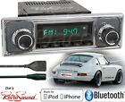 RetroSound Model TWO-B Radio/Bluetooth/iPod/USB/AUX-In-Porsche Becker Pinstripe