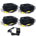 4x 150ft CCTV DVR CCD Security Camera Video Power Cable with DC Power Supply cfz
