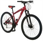 mongoose mens 29er disc brake off road mountain bike front suspension red 29