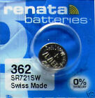 4 Renata Swiss Made SR721SW Watch Batteries