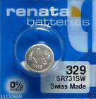 1 Renata 329 SR731SW V329 D329 S42 24 363 E329 GP329 Battery