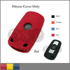 Leather Texture Silicone Cover fit for BMW Smart Remote Key Case 3 Button 4C RD