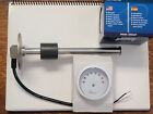 "FUEL TANK GAUGE METER SENDER 10"" STAINLESS WEMA UDFR-WW-240-33 LED WHITE 10 INCH"
