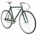 green 57 cm fixed gear fixie single speed flip flop hub road bike bicycle