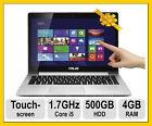 "ASUS 14"" Touchscreen Ultrabook Laptop S400CA VivoBook Win 8 i5 500GB HDD"