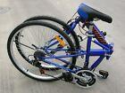 "NEW COLUMBA 26"" Folding Bike Shimano 18 speed Blue (SP26S_BLU)"