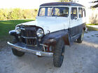 Willys : Station Wagon Base 1957 Willys Jeep 2-Door Wagon 4X4 57 Year Old Survivor Factory Rock Crawler