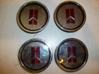 4 NOS OLDSMOBILE CUTLASS 442 WIRE WHEEL HUBCAP CENTERS CHEVY BUICK PONTIAC