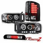 Headlights Projector Signal Tail Lights Roof Stop LED 2002-2005 Ram TurboDiesel