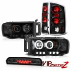 Sinister Black CCFL Rim Headlights Rear Brake Lights LED 2002-2005 Dodge Ram