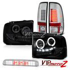 2005-2007 F250 CCFL ANGEL EYE Headlights Chrome Tail Lamps Roof Brake Cargo LED