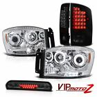 2006 Dodge Ram V8 CCFL Projector Headlamps Brake Tail Lights LED 3rd Brake Cargo