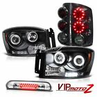 2006 Ram 3500 Angel Eye DRL Projector Headlights Smoke LED Brake Lamps High Stop