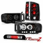 Devil CCFL DRL Headlights Rear Signal Brake Light Black Third LED 02-05 Ram 2500