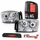 Fluorescence Halo Headlight SMD Brake Tail light High Cargo LED 2007 2008 Ram V8