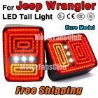 New Red LED Rear Break Tail Light Lamp 2PCS Assy For Jeep Wrangler 2007-2015