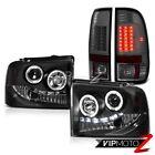 DRL LED Angel Eye Headlight+ Brake Tail Light Ford F250 TurboDiesel XLT 05 06 07