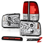 05 06 07 Ford F350 SD Angel Eye Halo Headlights LED Tail Lights 3rd Brake Tint