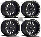 """Method 406 Beadlock ATV/UTV Wheels/Rims Black 15"""" Kawasaki Brute Force IRS (4)"""