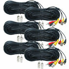 6 x 100ft CCTV Audio Video Power Cable RCA HD Security Camera Extension Wire wuw