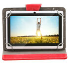 "iRULU 7"" Tablet PC Android 4.4 Pad 8GB 1024*600 HD Quad Core Dual Cam w/Red Case"