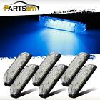"SIX Clear/Blue 4"" Utility Strip Light Interior & Exterior RV Trailer Boats 6LED"