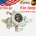 New 17701.02 Zinc Alloy 1-Barrel Car Carburetor Carb For Jeep 134 CI With F-Head