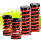"""FOR 00-05 MIT ECLIPSE 3G FRONT+REAR RACING COILOVER 1-3""""LOWERING COIL SPRING RED"""