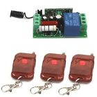 New AC 220V 1CH Relay Wireless Remote Control Switch 3 Transmitter + Receiver