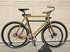 Pake Dirty Gold Fixed Gear Track Bike Complete 2speed Sturmey Archer S2C Hub
