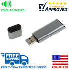 HD Quality Voice Activated USB Flash Drive Mini Spy Audio Recorder Device (Grey)