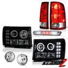 2008-2014 Sierra 2500 SLE Fog Lights Tail Brake Headlamps High Stop Light LED