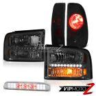 Front Headlights Sinister Black Brake Lamps High Stop LED Chrome 05-07 F350 5.4L