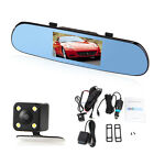 """5""""Quad-Core GPS Navigation Car Camera Recorder Rearview Mirror WiFi 8GB Android"""