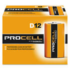 Duracell Procell Alkaline Batteries D 12/Box PC1300