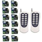 Mini DC 12V 1CH RF 12-key Remote Control ON/OFF Switch Transmitter+12 Receiver