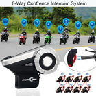 1500M T-Rex interphone 8-Way FM Motorcycle Bluetooth Helmet Intercom+L3 Remote