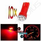 10Pcs T5 74 3-3014SMD Car Dashboard Panel Gauge Wedge Side LED Light Bulbs Red