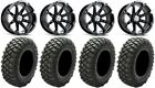 "MSA Black Diesel 14"" ATV Wheels 30"" Crawler XR Tires Yamaha Grizzly Rhino"