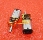 2PCS DC 12V 200RPM Micro Speed Reduction Gear Motor Metal Gearbox Wheel Shaft