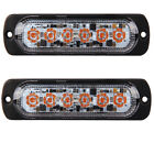2 X 3W Super Bright Amber 6-LED Flash Emergency Hazard Warning Strobe Light Bar