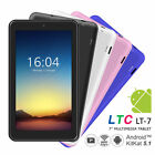 "LTC 7"" Android 5.1 PC Tablet MID Pad HD WIFI Quad Core Dual Camera 1024*600 IPS"