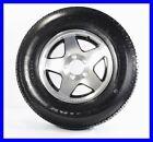 Two Trailer Tires + Rims ST185/80D13 185/80D-13 13 ST Aluminum Star Black Inlay