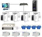 4 Door Fingerprint Security Door Access Control System Kit & 280kg Magnetic Lock