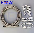 AN10 10AN Teflon Stainles Braided OIL FUEL E85 PTFE Hose Fittings End Adaptor 5M