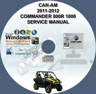 CAN-AM COMMANDER 800R 1000 SERVICE REPAIR MANUAL ON DVD 2011 2012 CAN AM