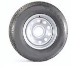 "Trailer Tire & Rim w/Caps & Lugs ST225/75D15 H78-15 15"" D 6 Lug Silver Modular"