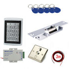 Metal RFID Secure Access the Control Systems Kit Strike Door Lock 110V Power Box