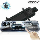 """Android 7"""" HD 1080P Dual Lens Car DVR Camera Rearview Mirror GPS Navigation Wifi"""